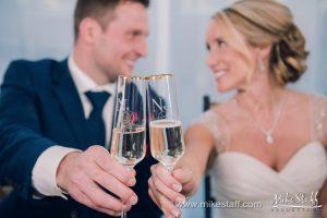 green wedding toast