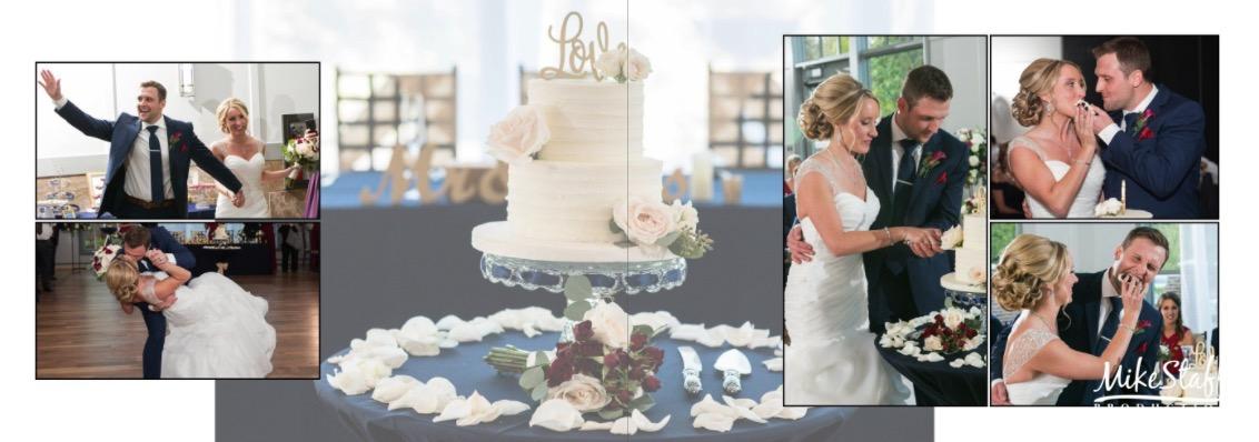 wedding cake album page