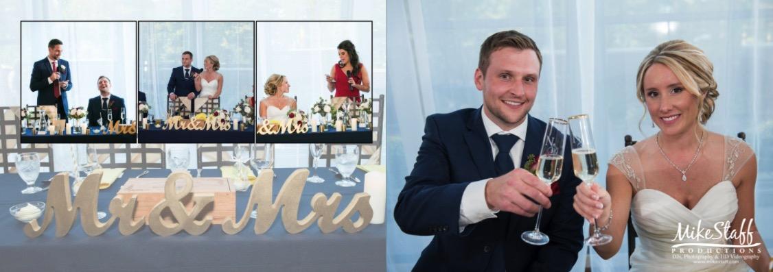 wedding album page reception
