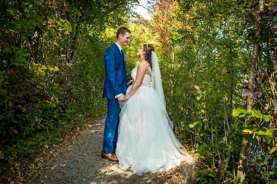 lindsay and logan wedding day romantics surrounded by trees