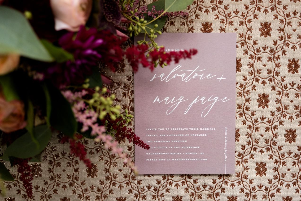 mary paige and sal invitation