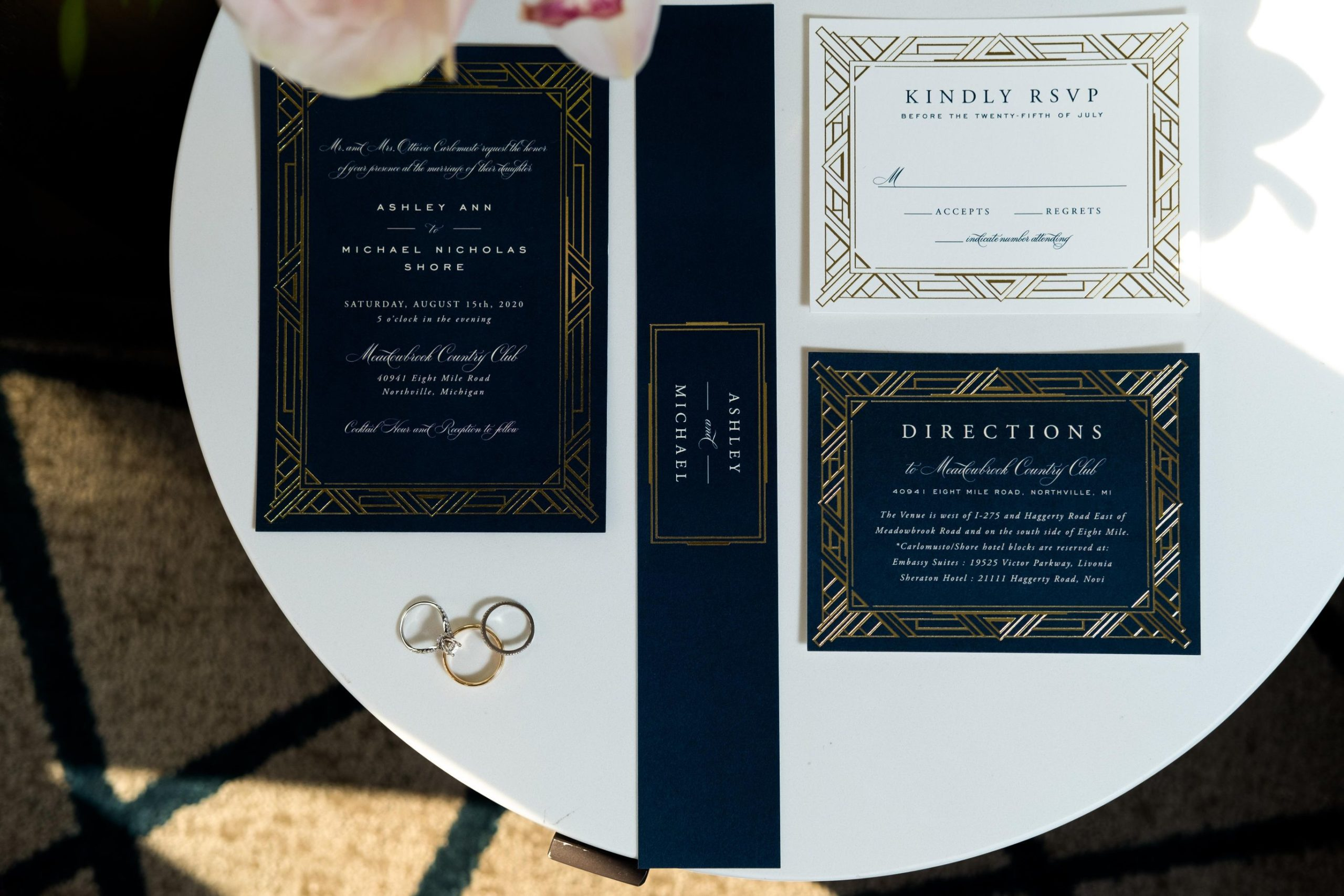 navy and gold wedding details scaled 1
