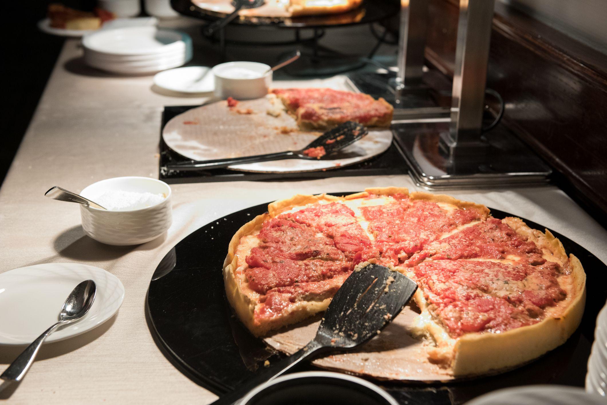pizza at wedding reception