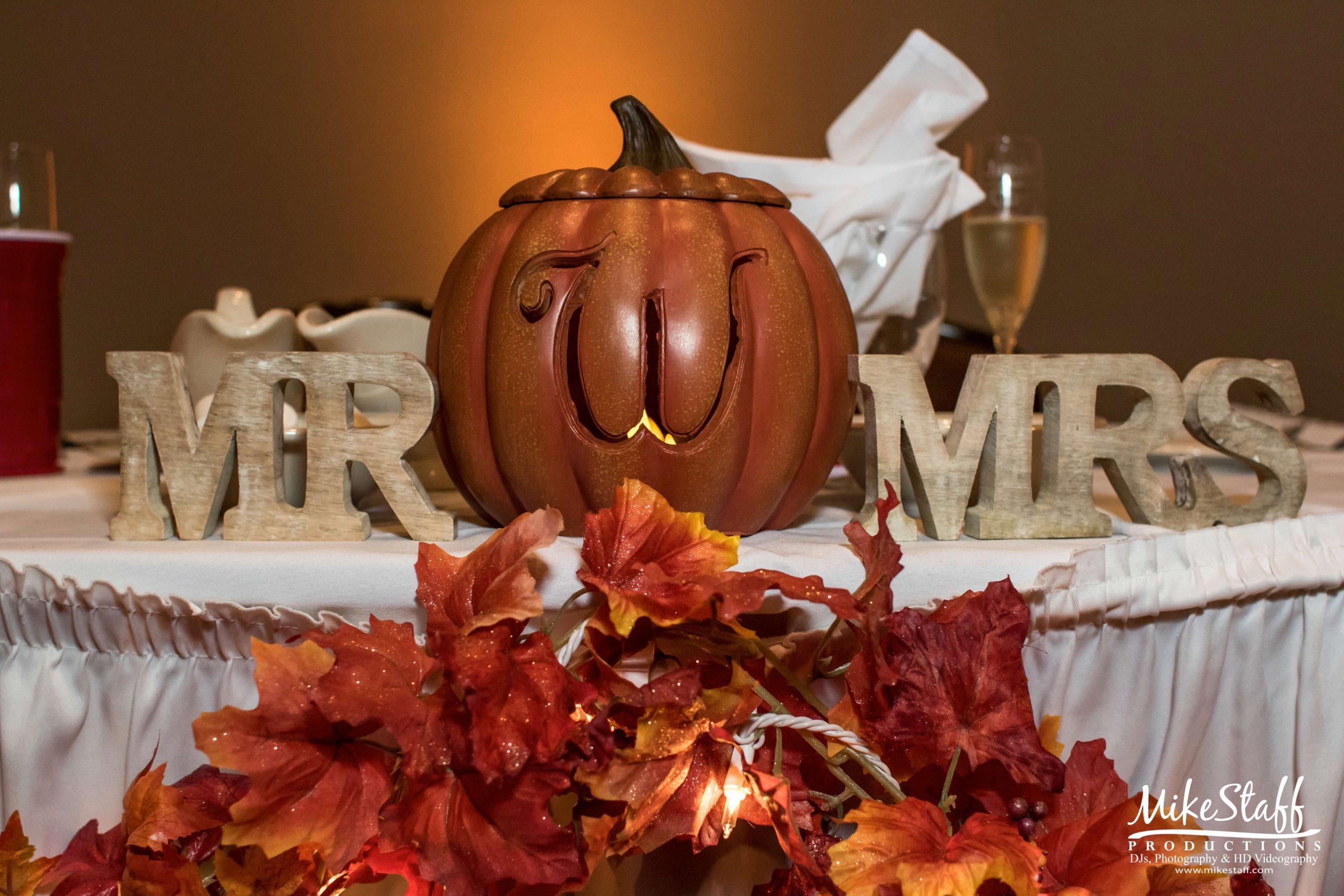 mr and mrs pumpkin decor