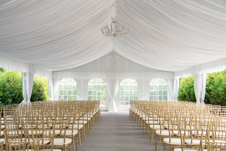 royal park hotel outdoor wedding tent