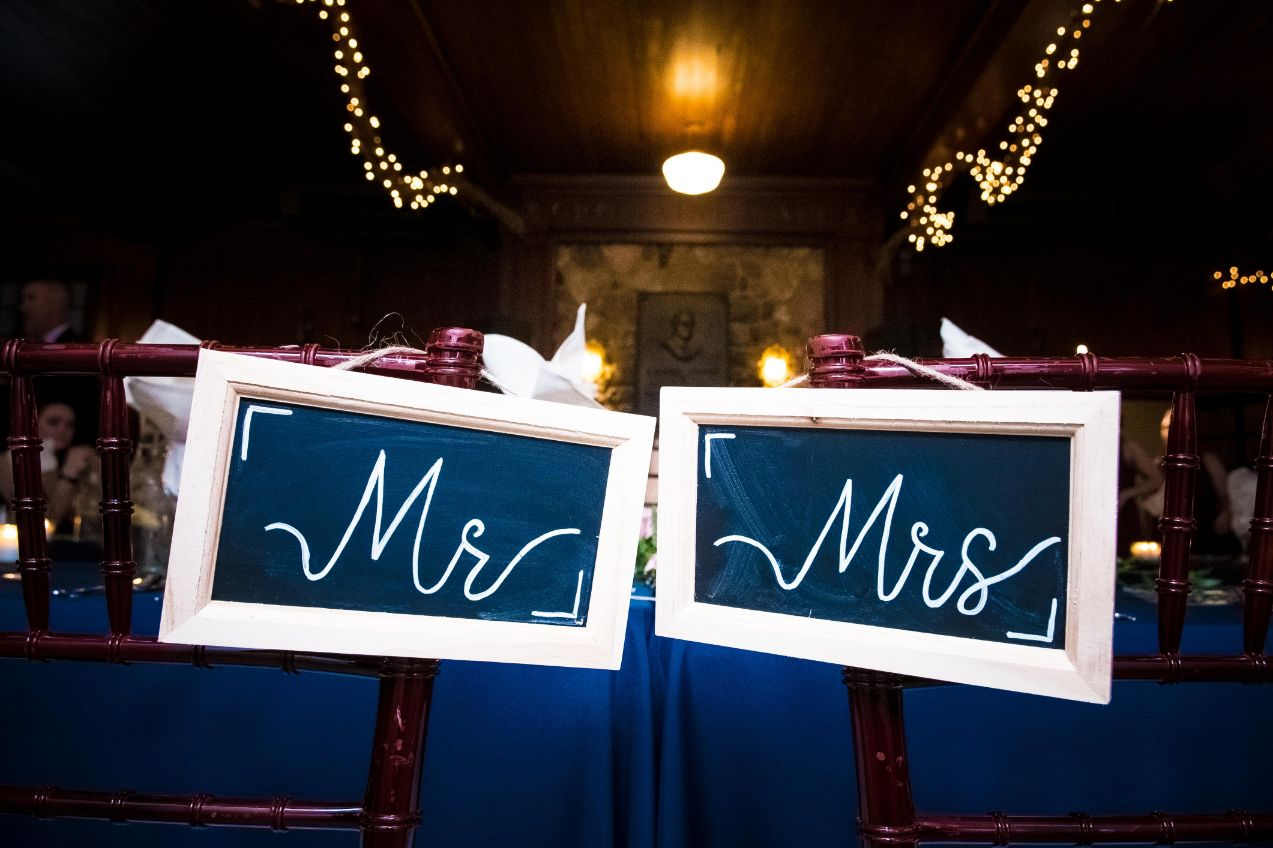 rustic mr and mrs signs