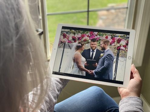 watching wedding livestream