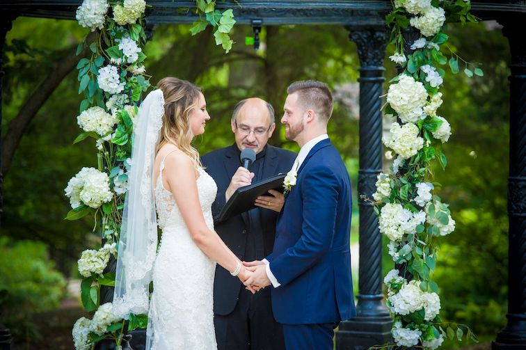 wedding ceremony with floral details at alter 1