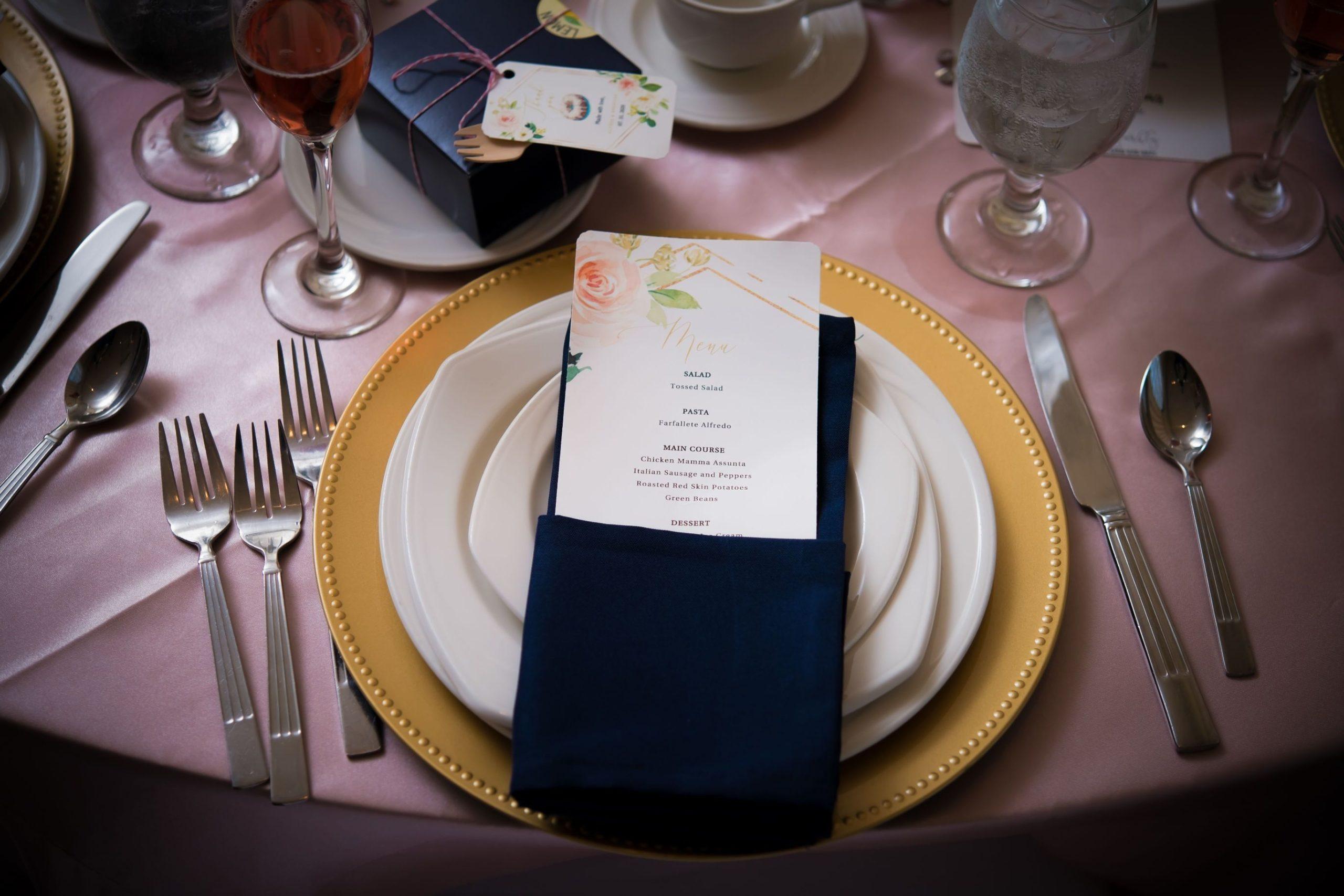 wedding table setting at palazzo grande