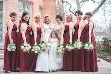 winter bridal party