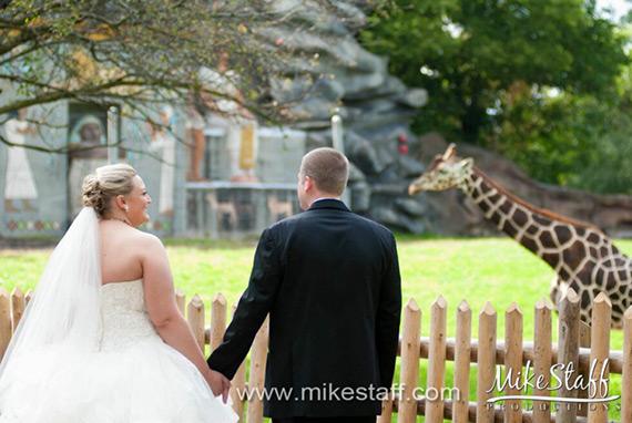 Royal Oak Michigan Wedding at Detroit Zoo