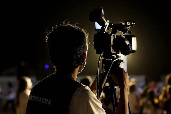 Videographer at an event
