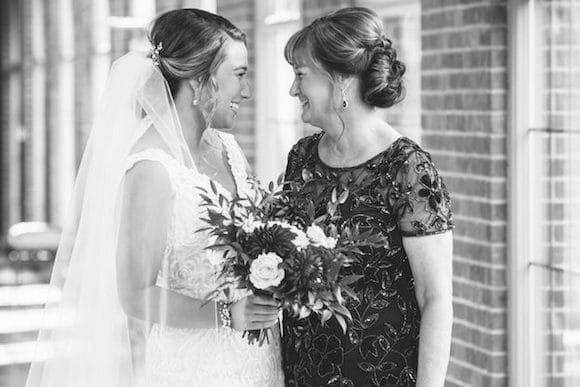 bride and mother pre-ceremony