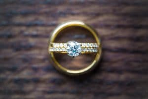 gold wedding rings - featured weddings