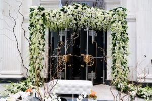 greenery at reception entrance