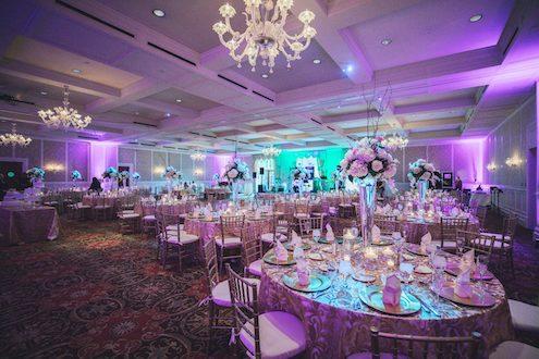purple uplighting detroit wedding dj page