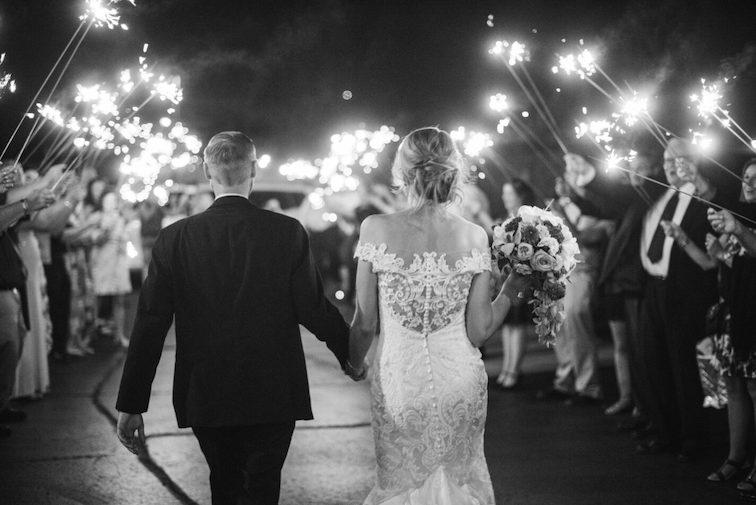 wedding reception exit