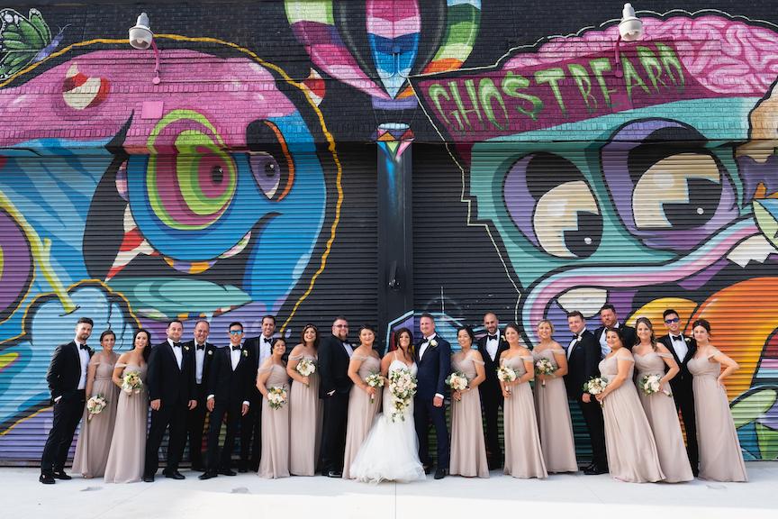 bridal party detroit graffiti