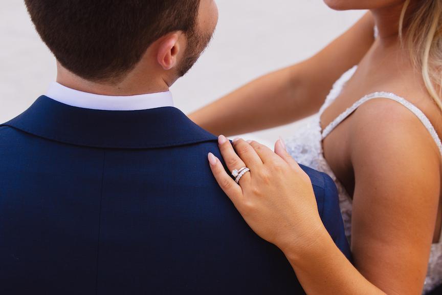 bride and groom generic hands
