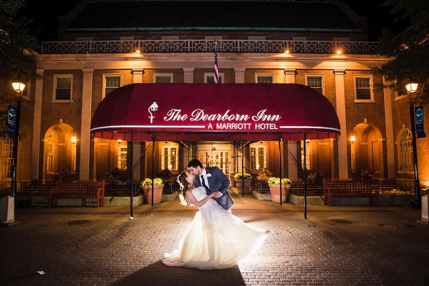 dearborn inn wedding photo