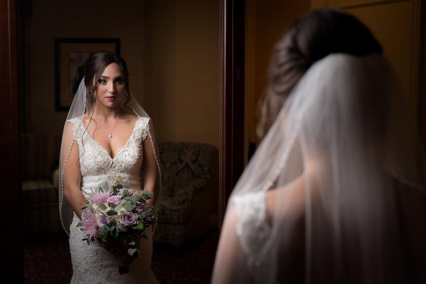 dramatic bride preceremony