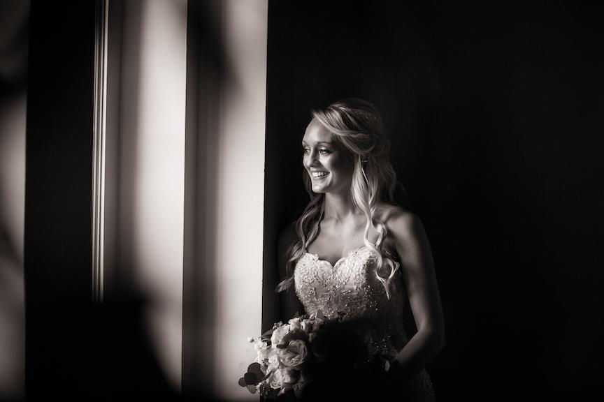 groom preceremony black and white