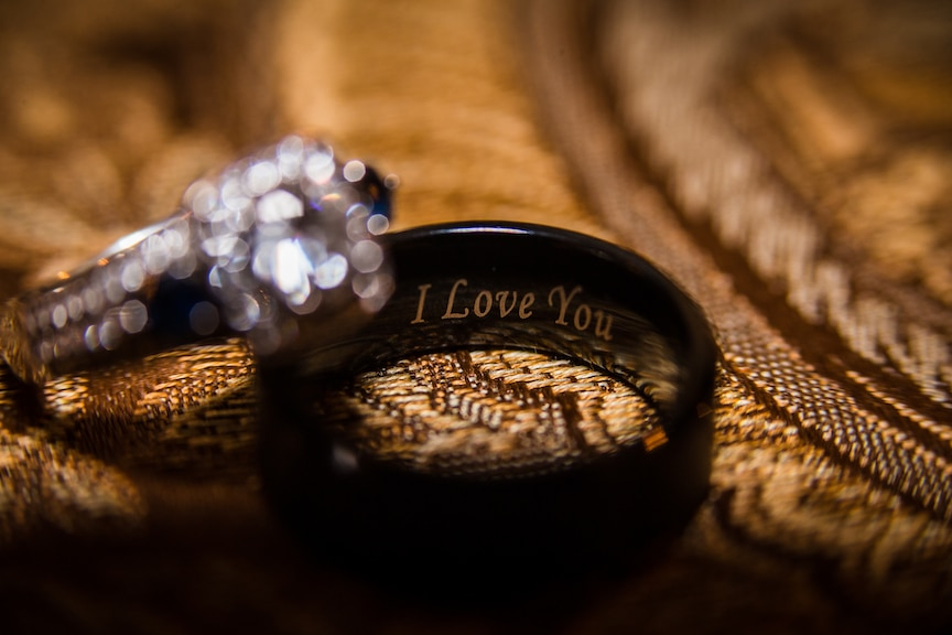 i love you engraved wedding band