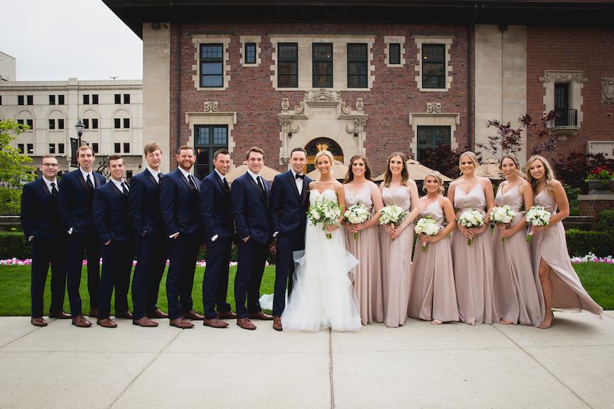 pastel bride party detroit