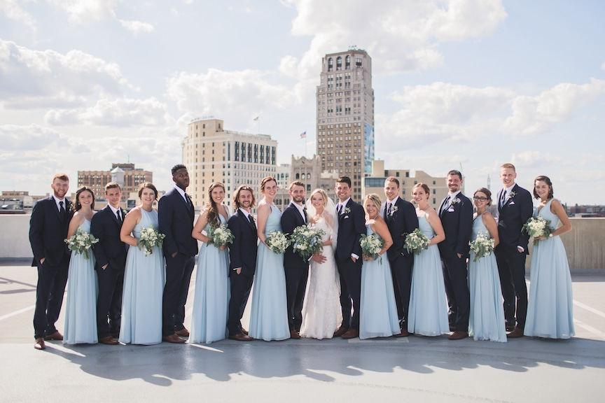 spring wedding detroit bridal party