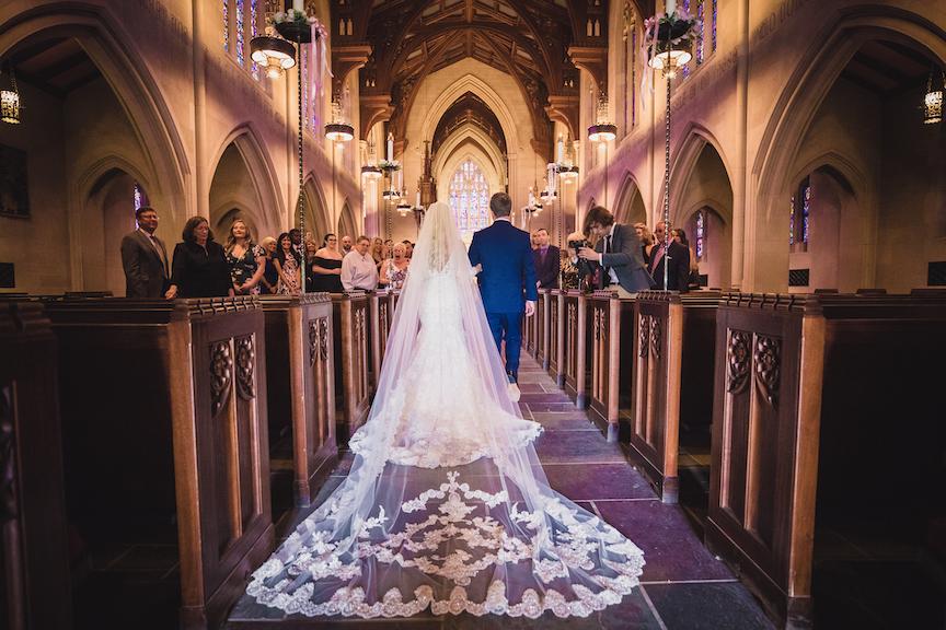 wedding ceremony lace train inn at st. john