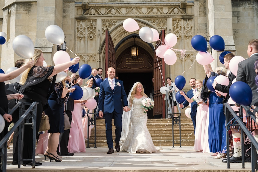 wedding ceremony recessional balloons