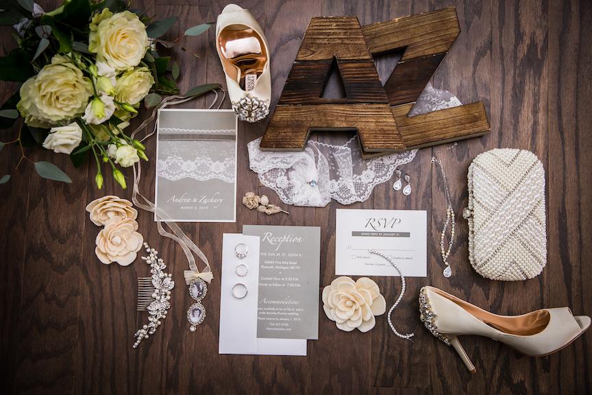 wedding detail shot 2021
