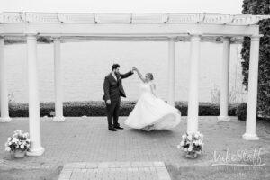 bride and groom at greystone wedding